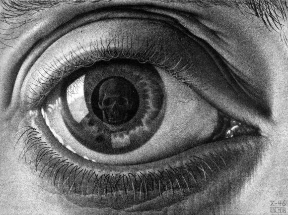 M.C. Escher - Eye, 1946 Mezzotint