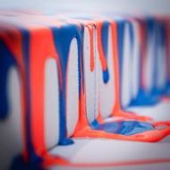 Fluorescent Blue & Orange #2