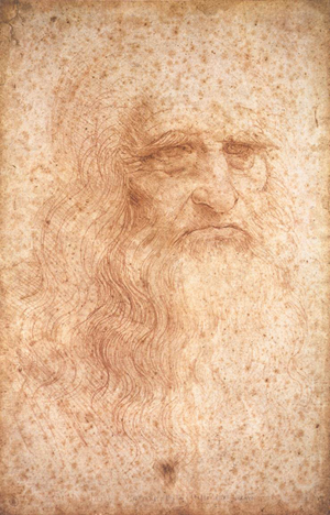 Leonardo da Vinci - Portrait of an elderly man, c. 1512, Red chalk on Paper, 33.3 cm × 21.6 cm, Biblioteca Reale, Turin