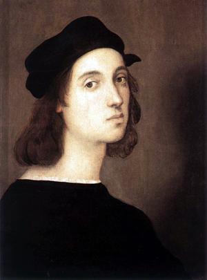 Raphael - Self Portrait. c.1506, tempera on poplar, 47.5 x 33 cm, Galleria degli Uffizi, Florence, Italy